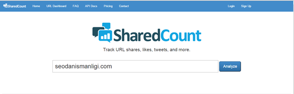 Shared Count Site Analiz Aracı