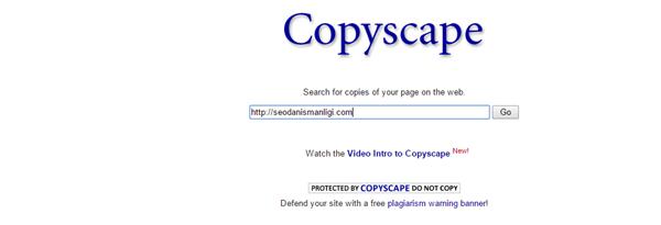 Copyscape Özgün içerik Analizi