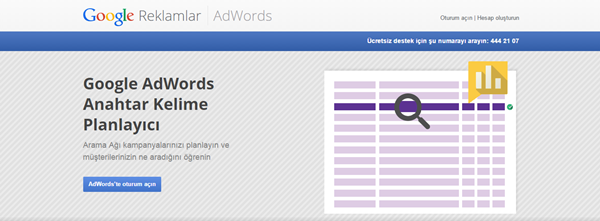 Google Keyword Tool Anahtar kelime aracı