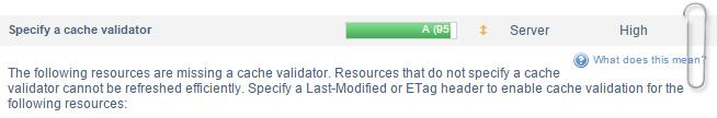 Specify a cache validator Nedir ?