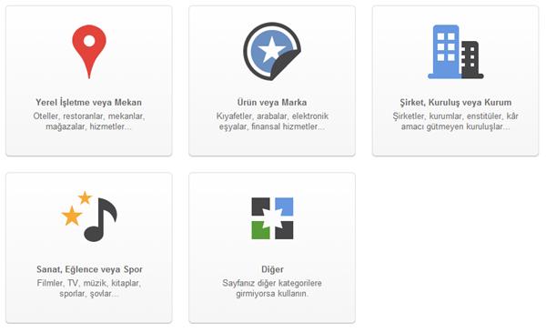 Google +1 Sayfasını Kullanın